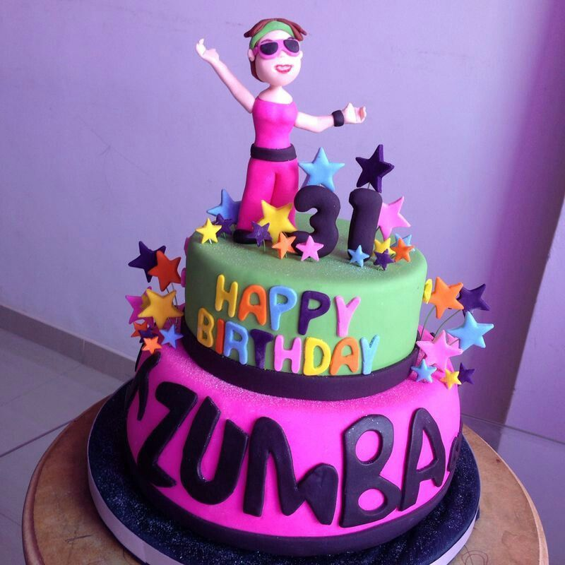 Image result for zumba cakes Cute birthday cakes, 60th