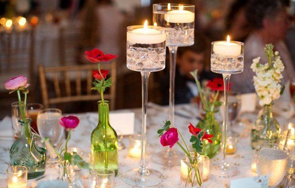 Rustic Shabby Chic Vintage Centerpiece Garden Wedding Flowers Photos & Pictures - WeddingWire.com