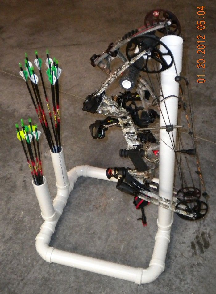 Simple Pvc Bow Stand For The Home Archery Hunting