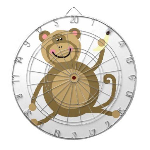Safari Jungle Monkey Cute Adorable Chic Destiny Dart Boards