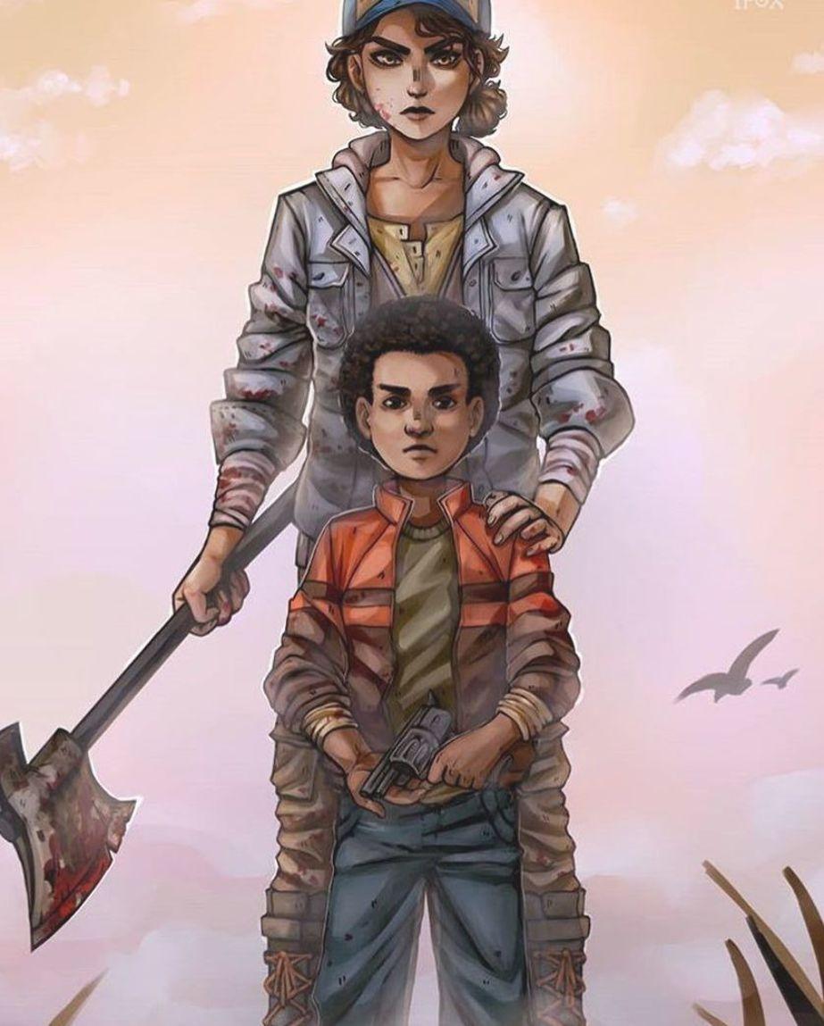 Clem And Aj The Walking Dead Final Season Game Walking Dead Game The Walking Dead Telltale Walking Dead Wallpaper