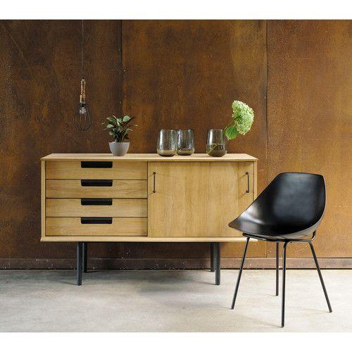 petit buffet tv vintage teck reedition guariche maison. Black Bedroom Furniture Sets. Home Design Ideas