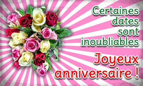 Joyeux Anniversaire 0004 Fleure Jpg 500 300 Carte Anniversaire Photo Carte Anniversaire Anniversaire