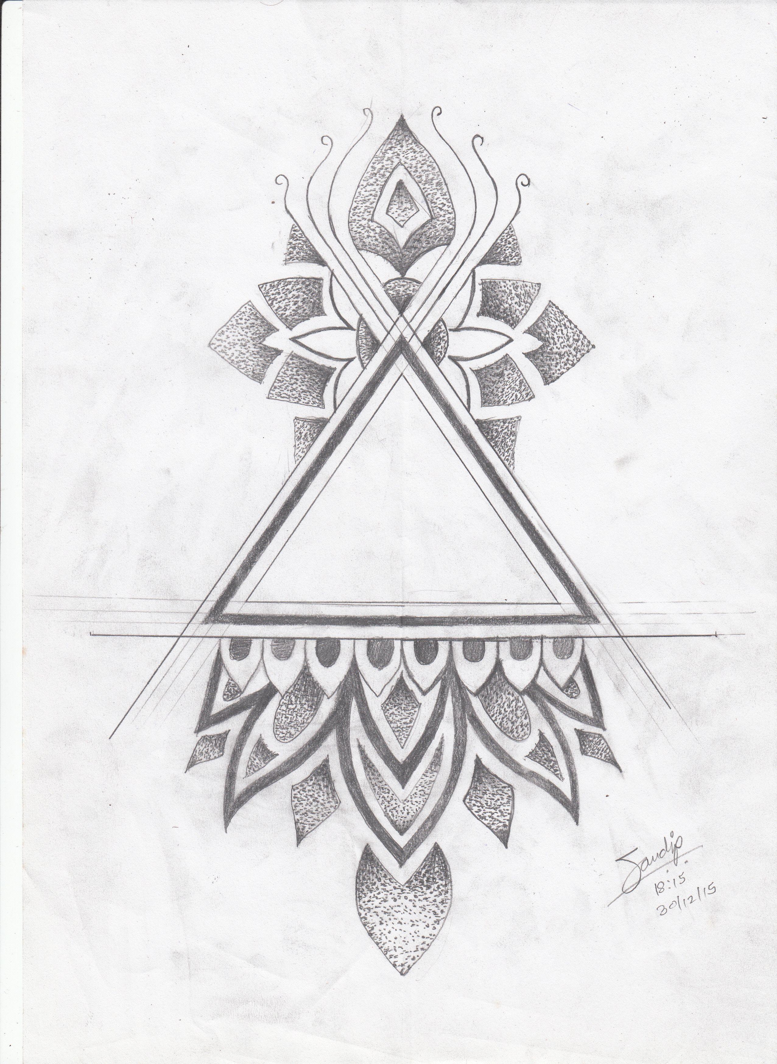 Triangle Tattoo Design By Artist Sandip Bold Tattoo Studio In