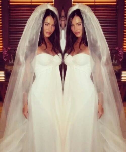 Megan fox wedding dress wedding attire Pinterest Megan fox