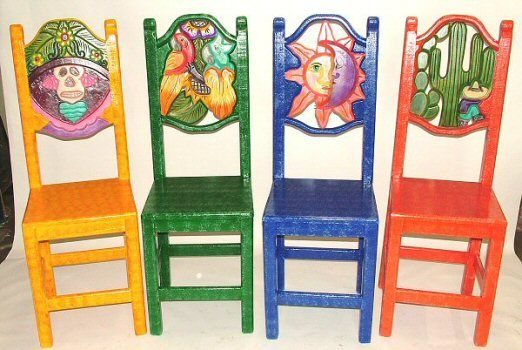 Painted Mexican Furniture Equipal Furniture Equipale Carved
