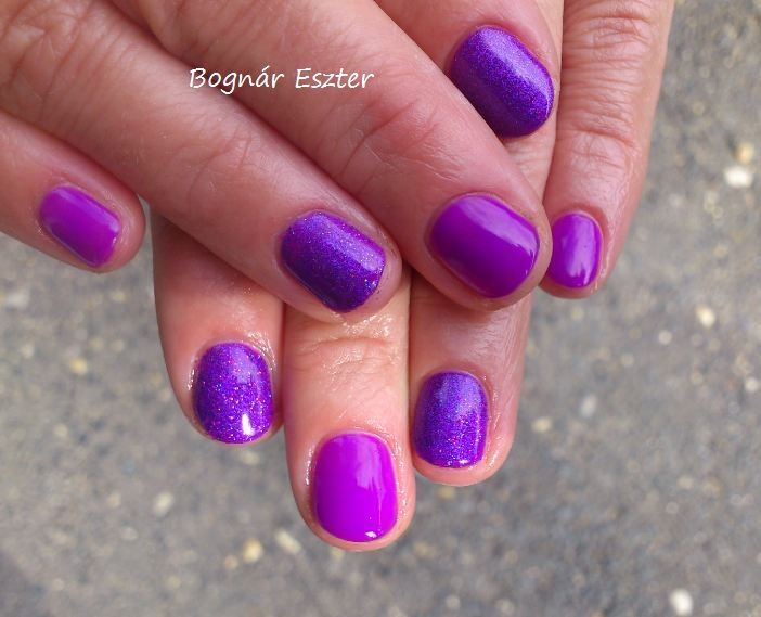 Gelish- You Glare I Glow # purple nails