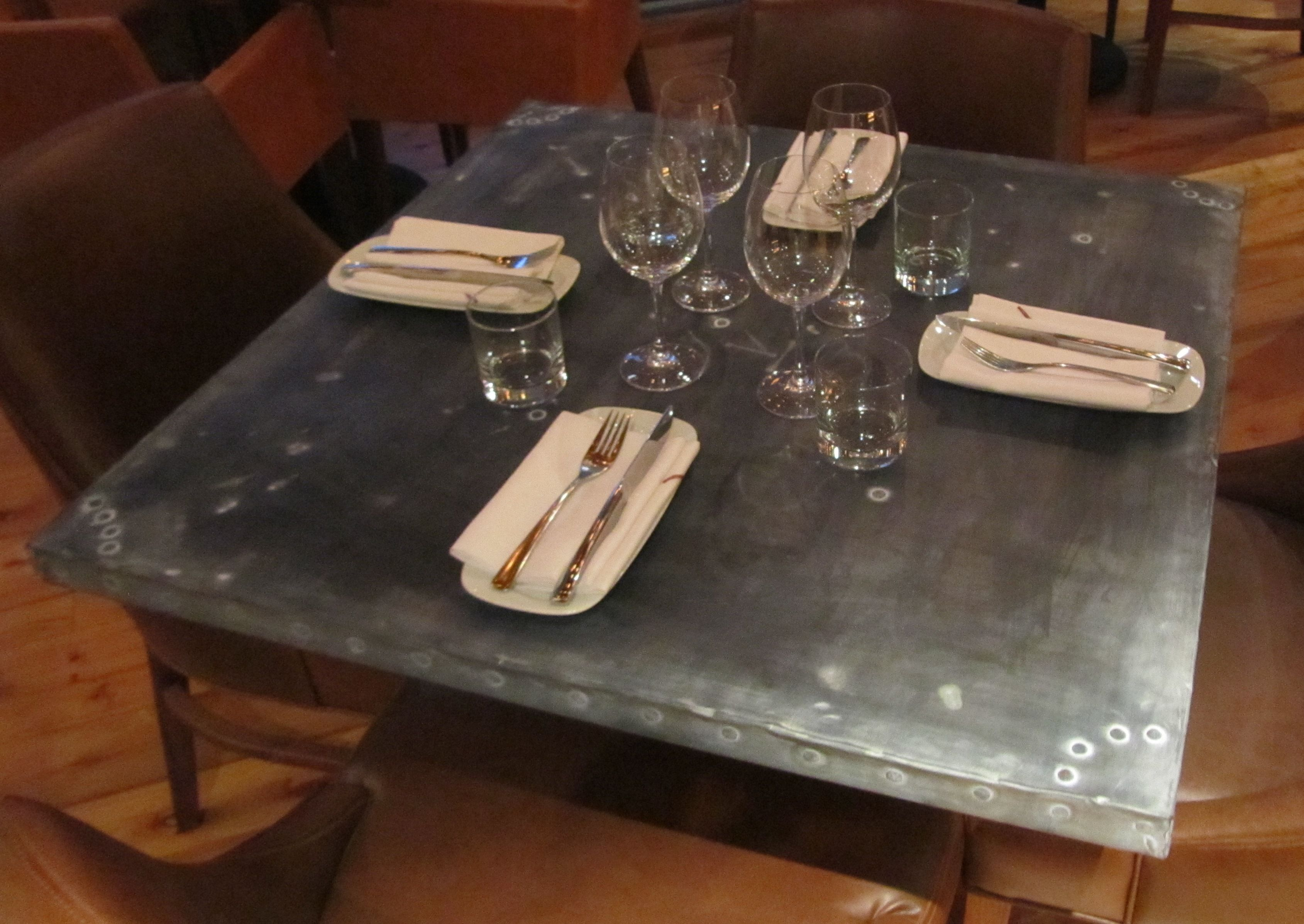 fixtures and furnishingspaul row  zinc dining tables