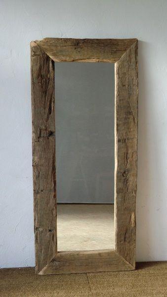 Spiegel Aus Historischen Eichenbalken Eiche Spiegel Holz Home Design Diy