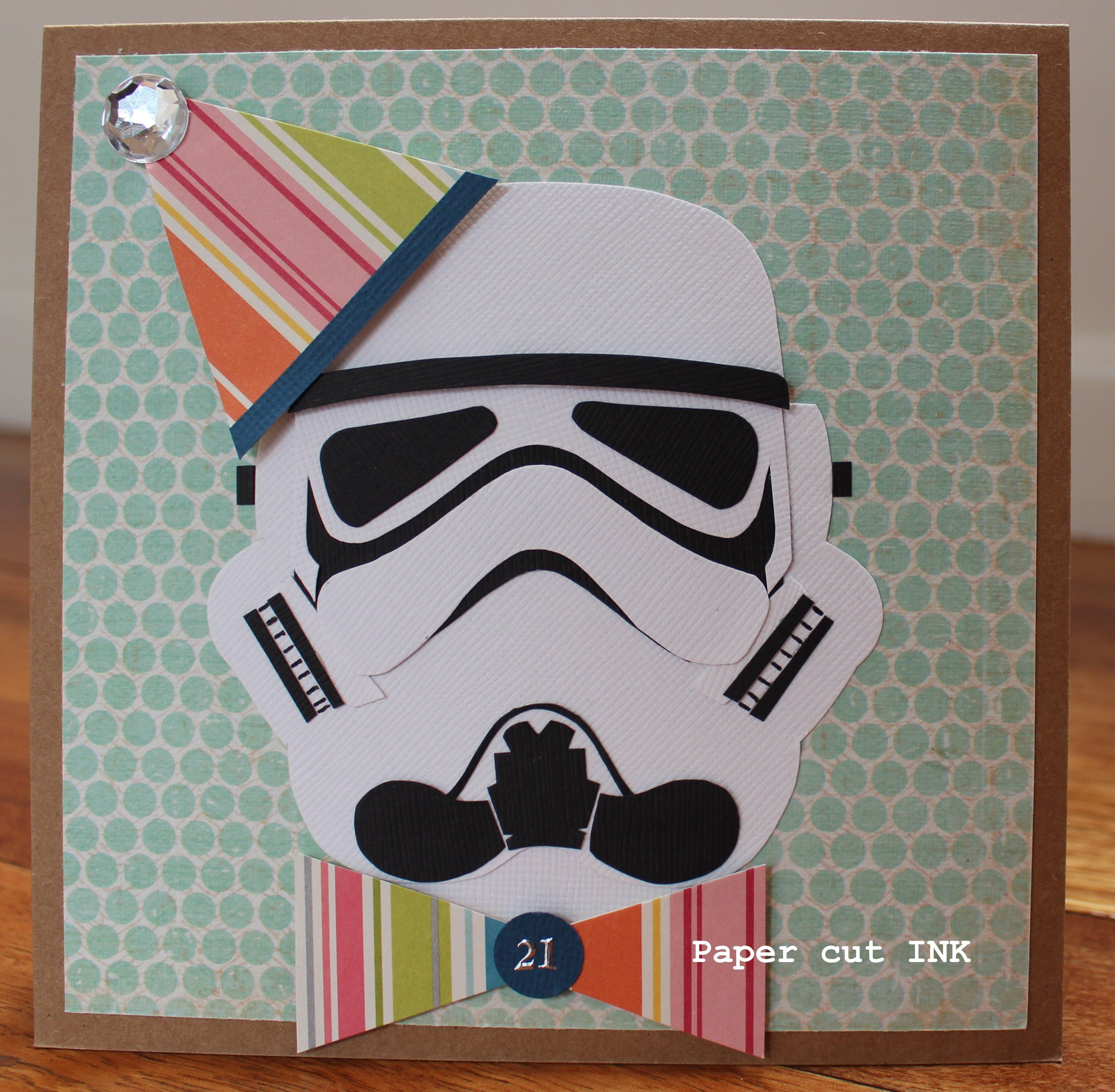 Star Wars Theme Storm Trooper Card Using Stampin Up My Mind S Eye Bazzill Paper Star Wars Cards Punch Art Cards Kids Cards