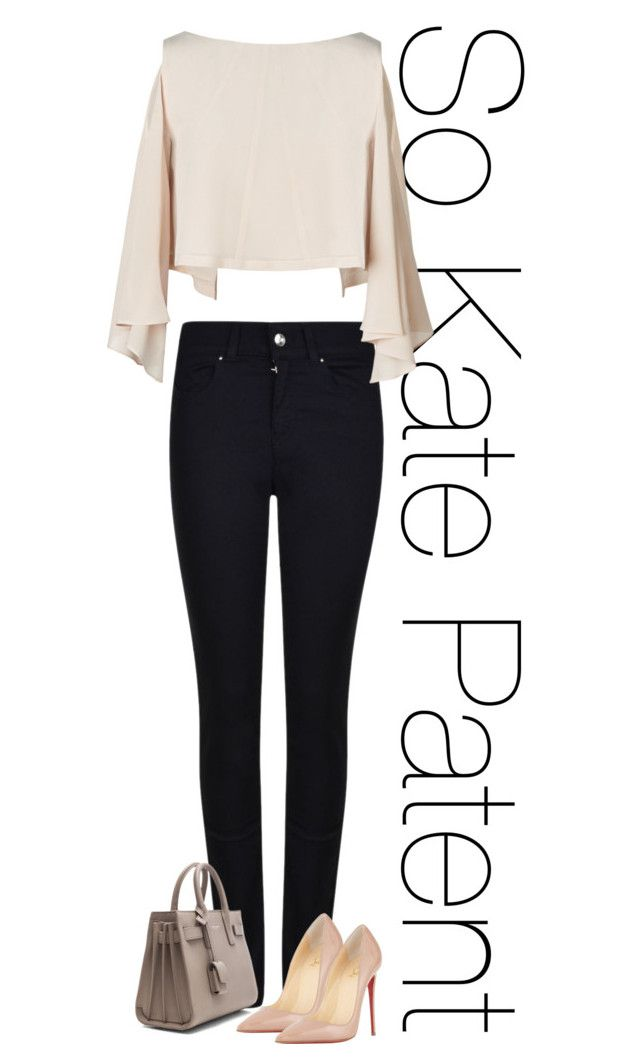 """""""Untitled #470"""" by rania68 ❤ liked on Polyvore featuring Armani Jeans, Yves Saint Laurent and Christian Louboutin"""