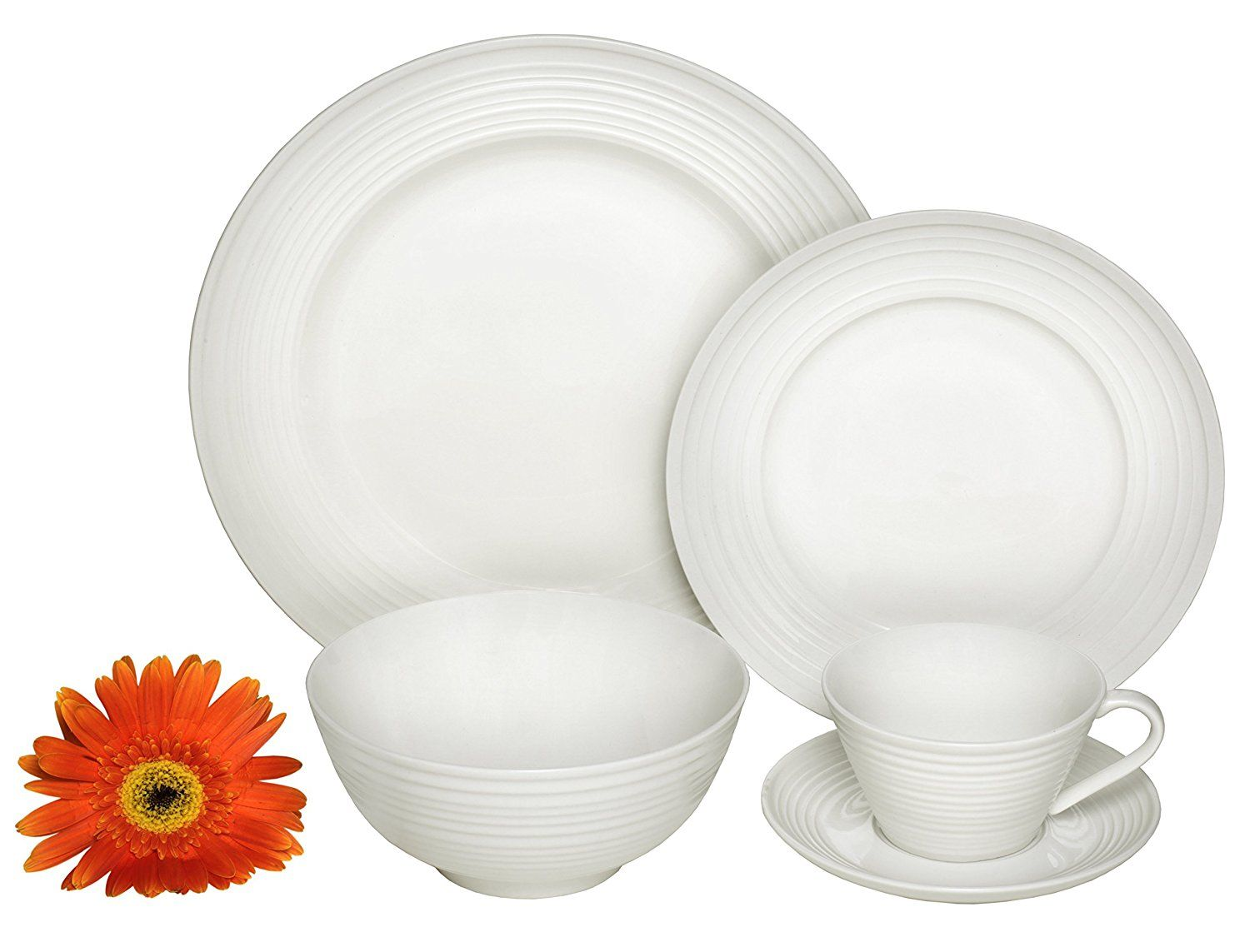 Amazon.com | Melange 40-Piece Porcelain Dinnerware Set (Classic Swirl) |  sc 1 st  Pinterest & Amazon.com | Melange 40-Piece Porcelain Dinnerware Set (Classic ...