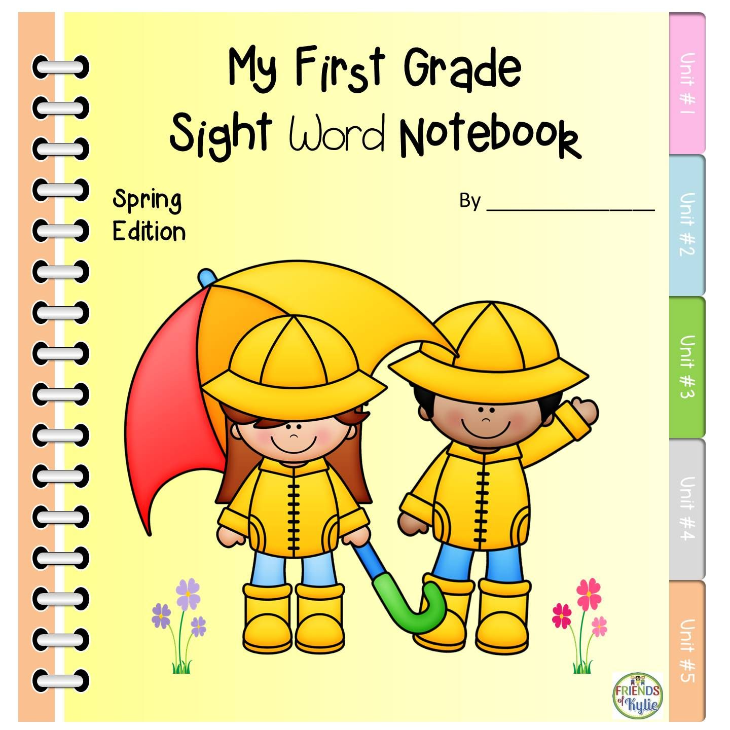 First Grade Dolch Sight Words Spring Notebook Sight