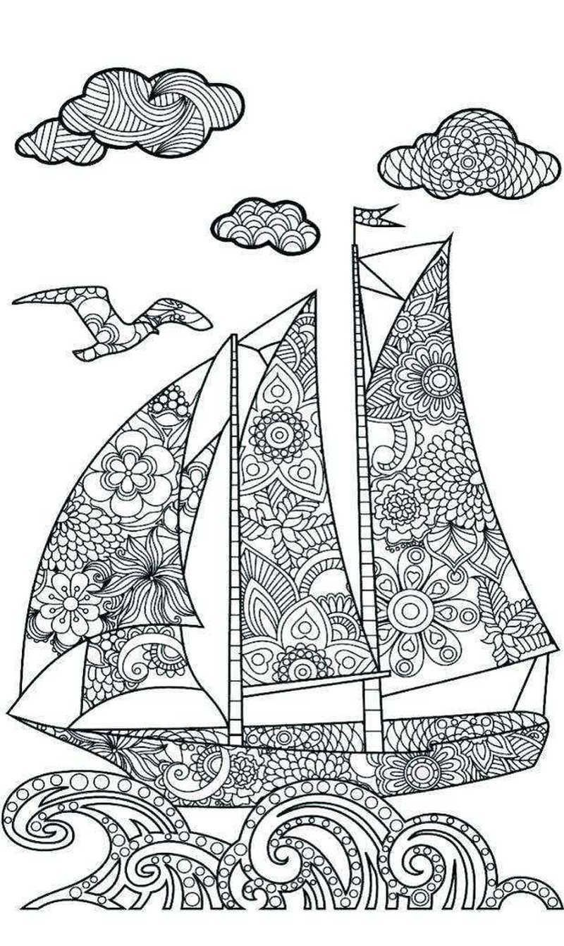 Nautical S Coloring Pages