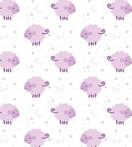 Counting Sheep Wallpaper In Pink By BC Magic