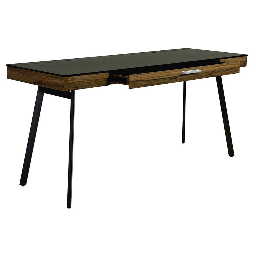 Hart Desk Walnut Black Modern White Desk Modern Desk Home Decor