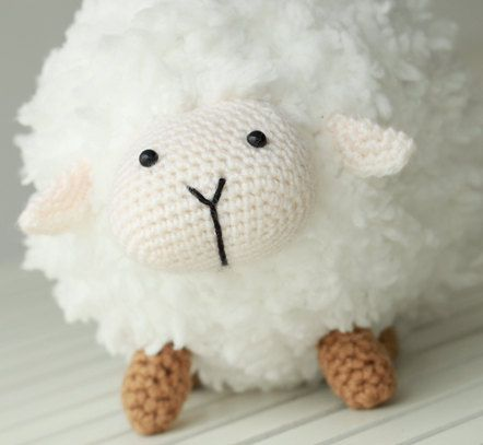 Sheep Amigurumi, Crochet Sheep, Super Soft, Super Cute (for sale, sadly no pattern, I'd pay for one!)