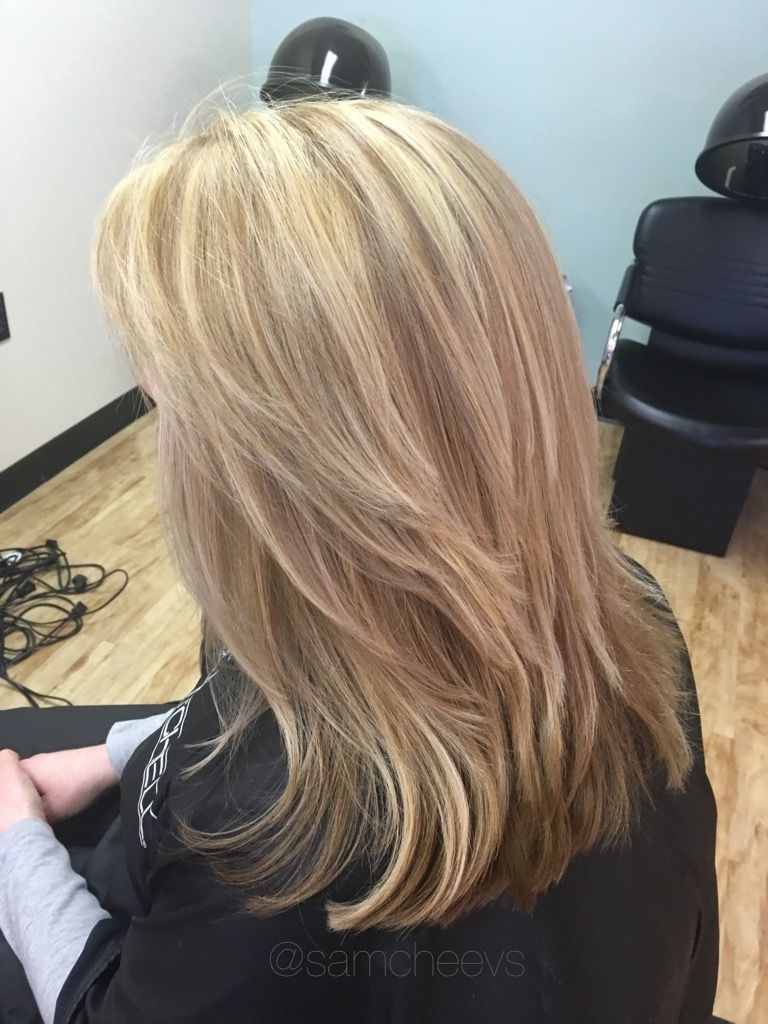 Platinum Honey Blonde Dark Underneath Short Layered Hair Cut For