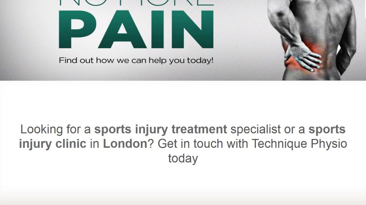 Are you searching the best physical sports injuries clinic in London than contact to Technique Physio team today we have experienced physiotherapist they will help you very nicely way. http://www.techniquephysio.com/physiotherapy-clinic-london/sports-injury/