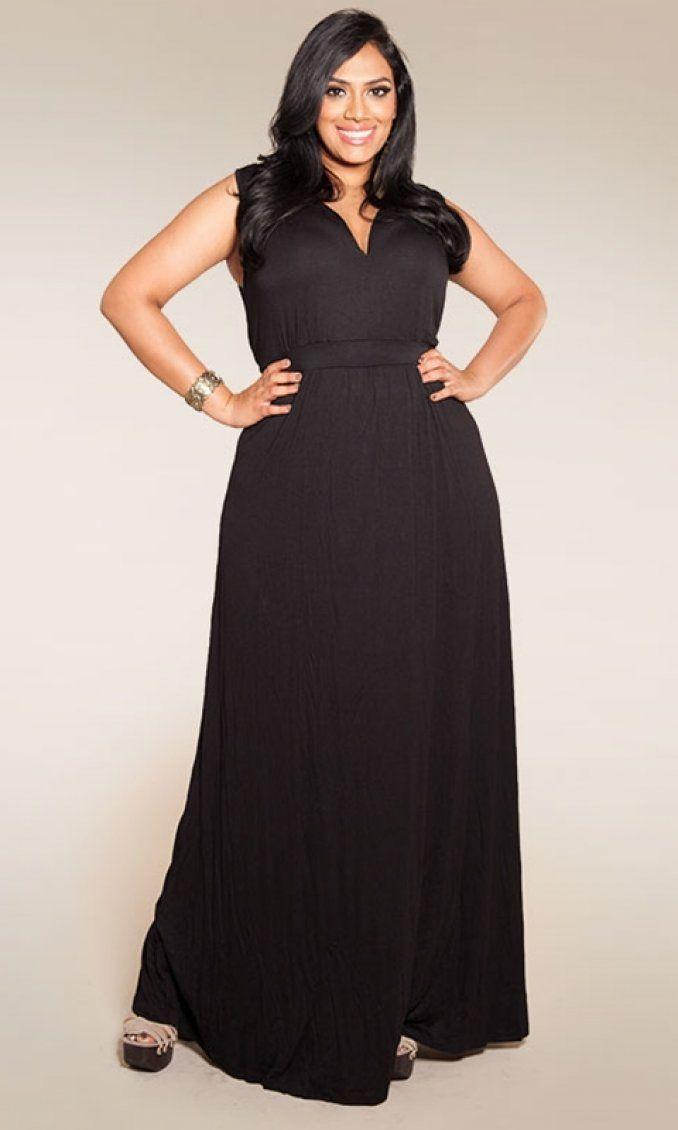 The plus size Bonnie Maxi Dress. Simple. Flattering ...