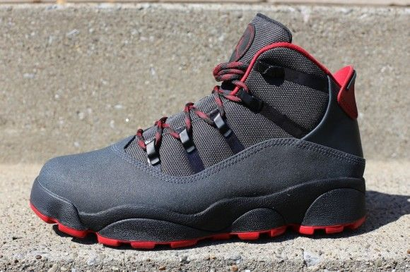 new style 47212 0729d Jordan Six Rings Winterized Anthracite Gym Red