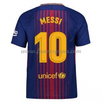 Camisetas De Futbol Barcelona Lionel Messi 10 Primera Equipación 2017-18 f6b803c43b4