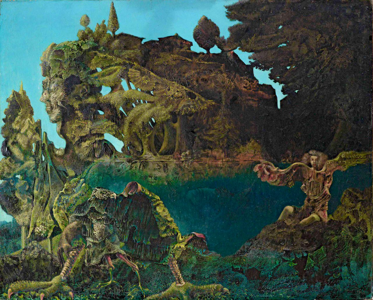 Hideback Max Ernst German 1891-1976 Swampangel 1940 - Surrealists Surrealism