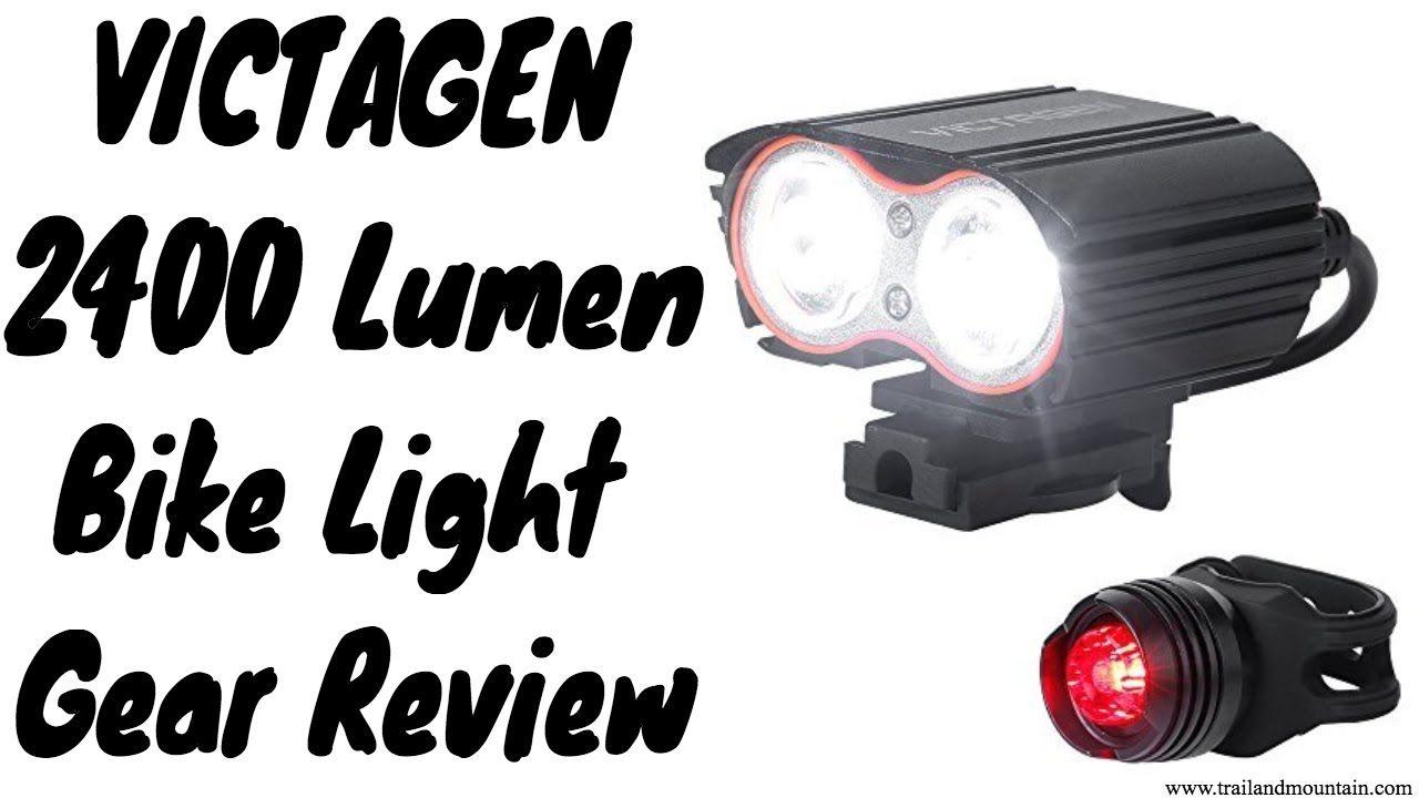 Victagen K2d 2400 Lumen Bike Light Gear Review Bike Lights