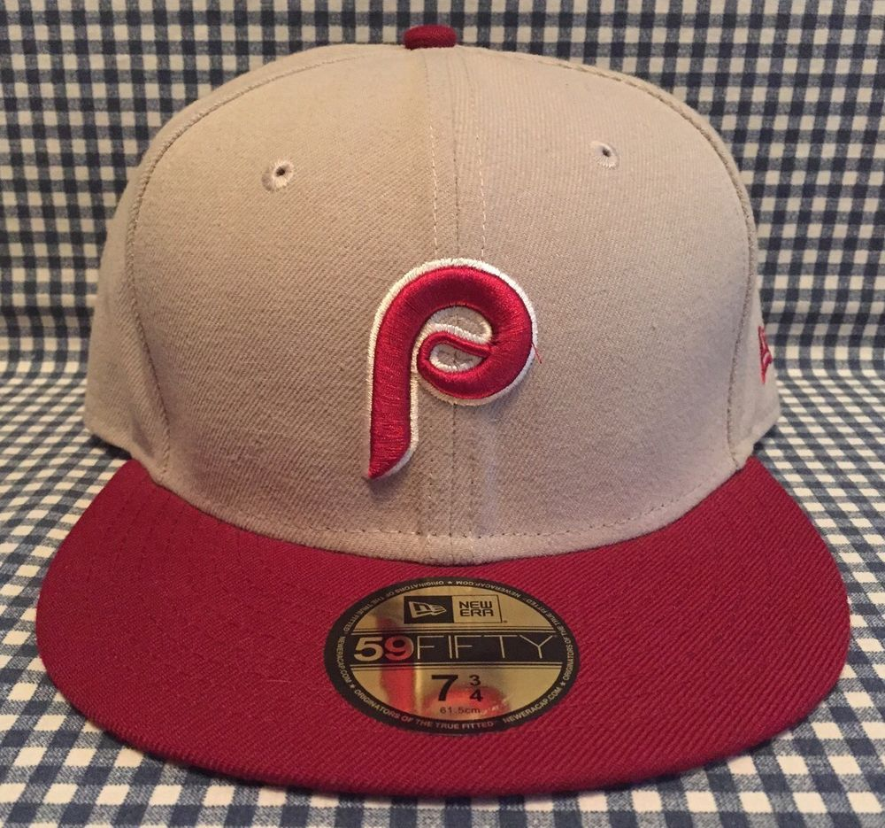 Philadelphia Phillies New Era 59 50 Fitted Hat Size 7 3 4 Cooperstown Collection NewEra PhiladelphiaPhillies