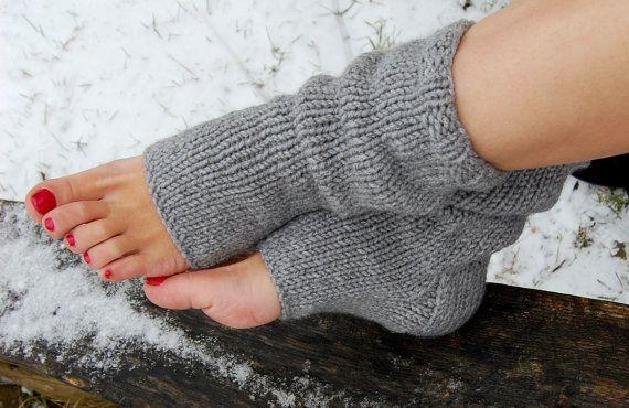 Pedicure Socks, Knit Toeless Socks, Flip Flop Socks, Hand Knit Socks ...