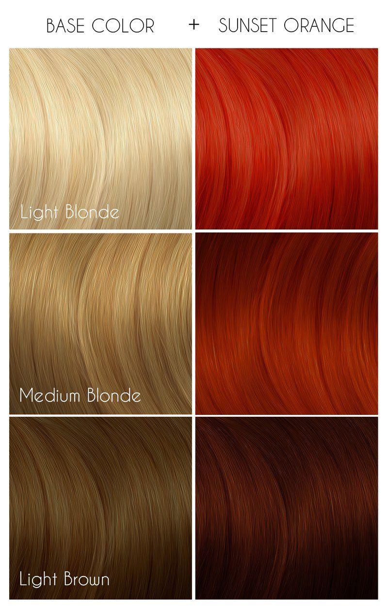 Sunset Orange Arctic Fox Hair Color Arctic Fox Hair Dye Fox Hair Dye
