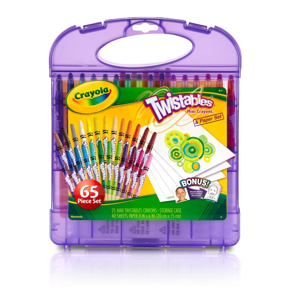 Mini Twistables Crayons and Paper Set, Multicolor