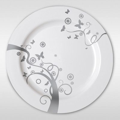 These are disposable heavyweight plastic dinner plates that are perfect to set a table in an important outdoor event such as a wedding or corporate\u2026 & These are disposable heavyweight plastic dinner plates that are ...