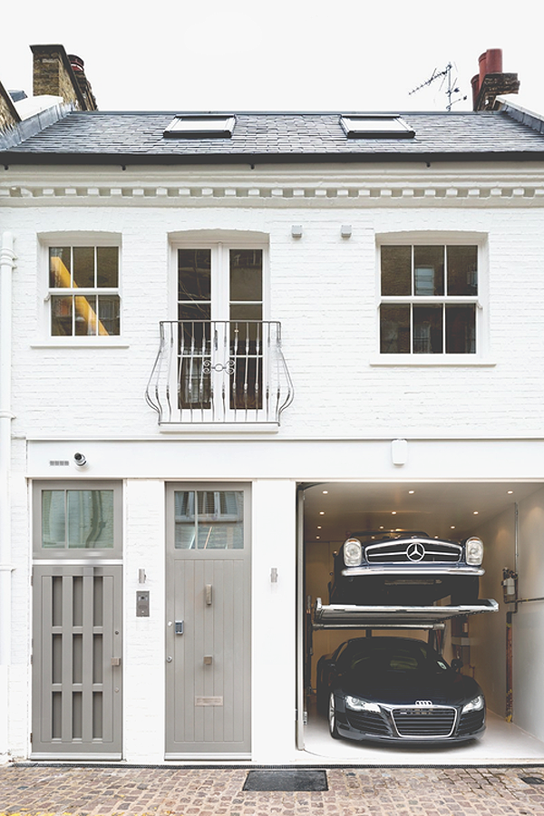 Parking via the townhouse way of parking your mercedes for Nyc townhouse with garage