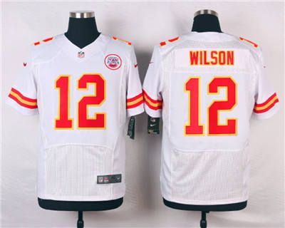buy online d5f3b e8adb Nike Kansas City Chiefs #12 Albert Wilson White Elite Jersey ...