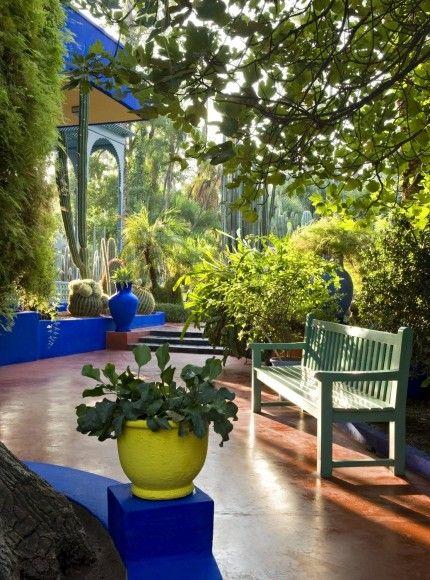 Das Paradies Es Liegt In Marrakesch Der Jardin Majorelle Bild 3 Von 4 Marrakesch Garten Und Outdoor Aussenterasse