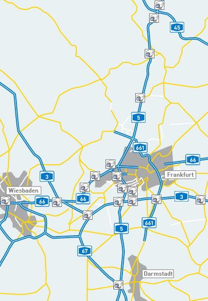 Verkehrskamera A3 A5 Frankfurter Kreuz Verkehr Frankfurt Wiesbaden