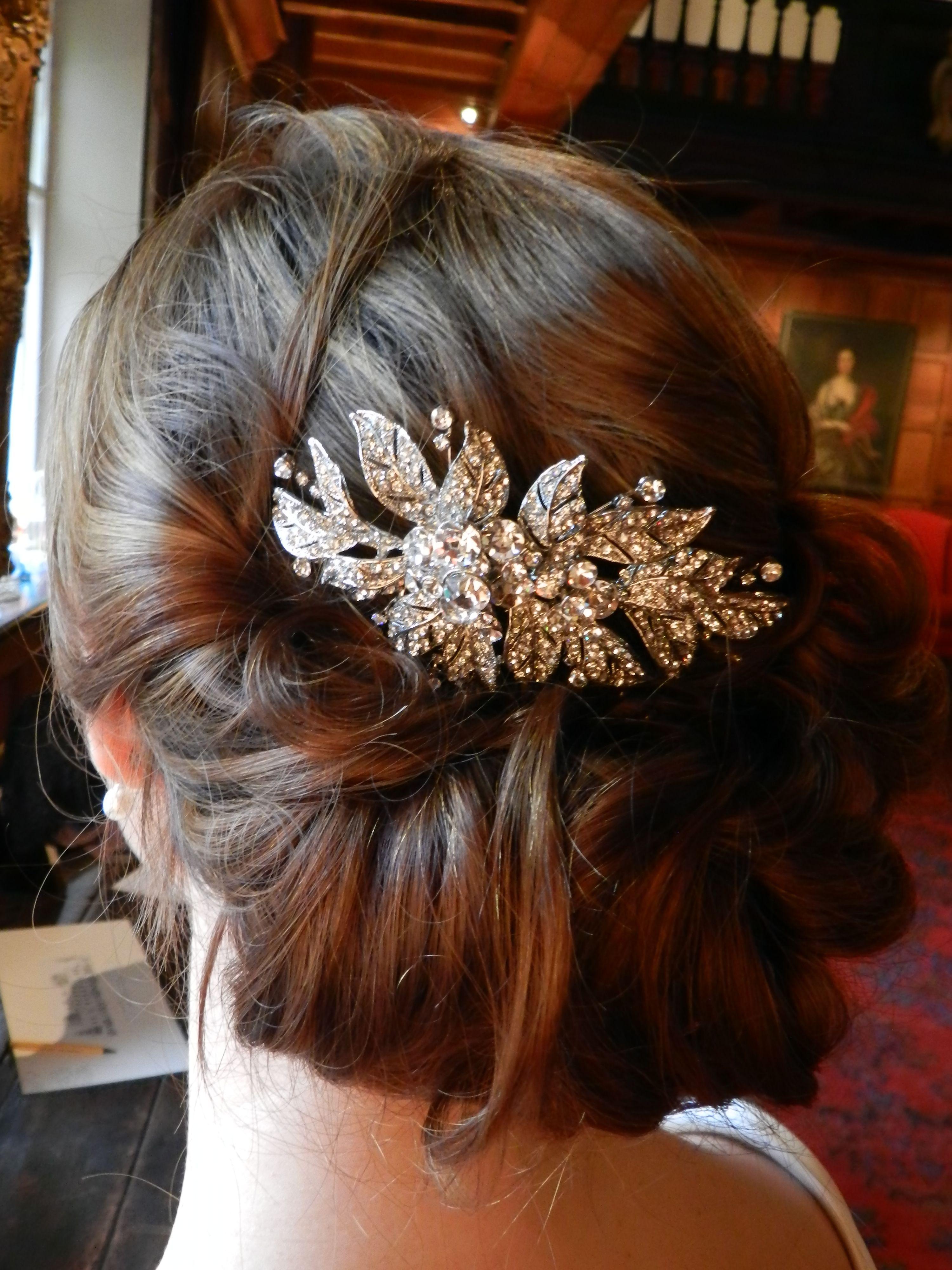 Bridal hairstyle at Hampden House