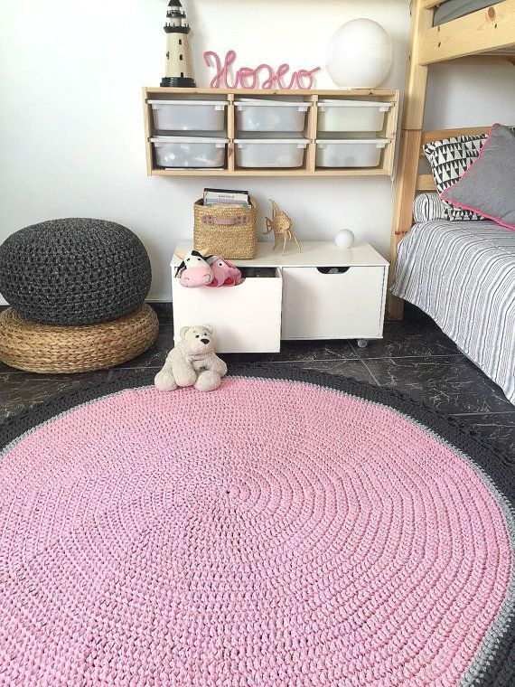 Items similar to Large Crochet Round Rug, Baby Room Area Rug, Chunky Cotton Play Mat, Nursery Hand Knit Carpet on Etsy Large Crochet Round Rug-Nursery Decor-Kids Rug-Baby by LoopingHome | hand knitting round rug #Area #Baby #carpet #chunky #Cotton #Crochet #Etsy #Hand #Items #knit #Large #mat #nursery #Play #room #Rug #similar