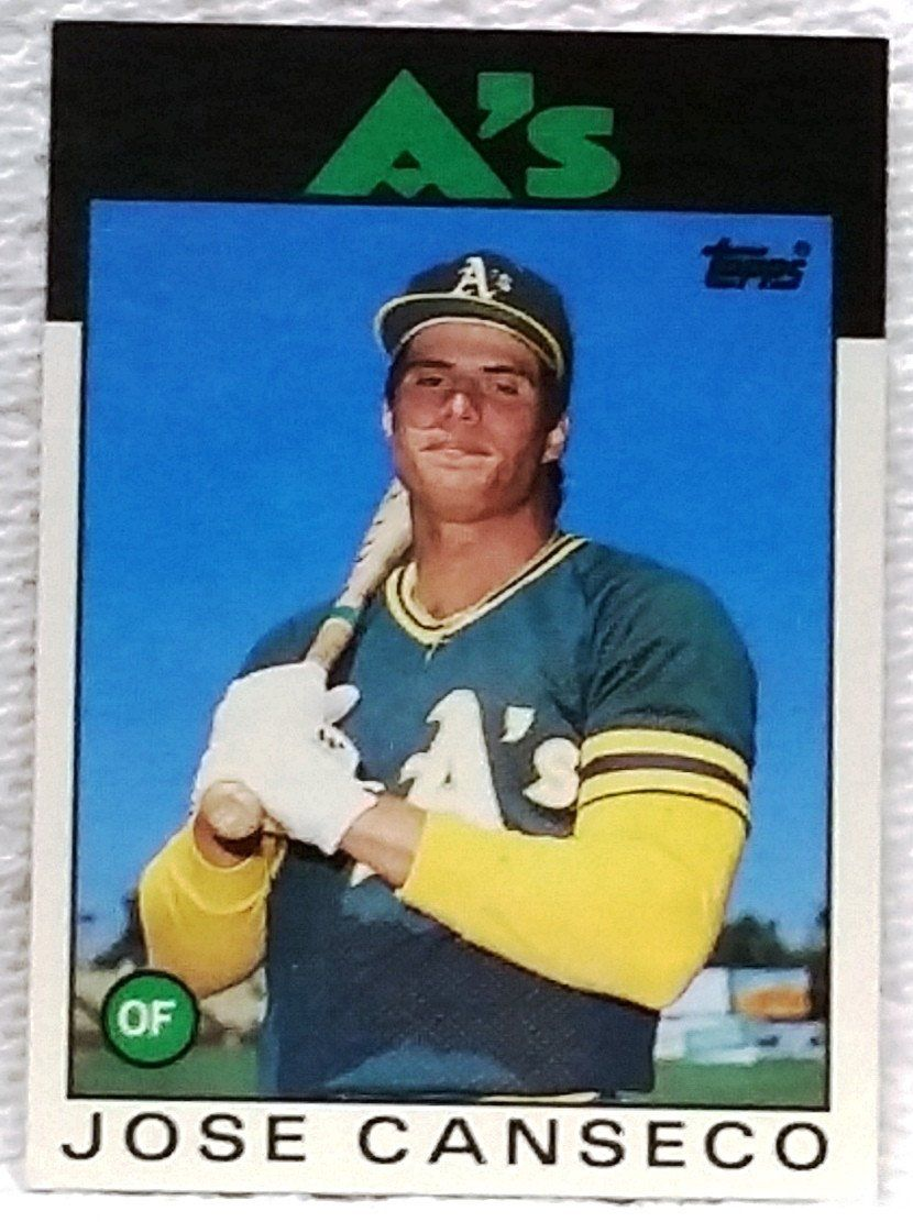 1986 topps traded 20t jose canseco rookie card oakland a