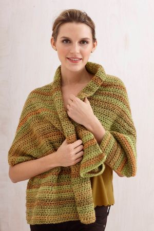Caramel Tweed Shawl | Chalina | Pinterest | Häkeln