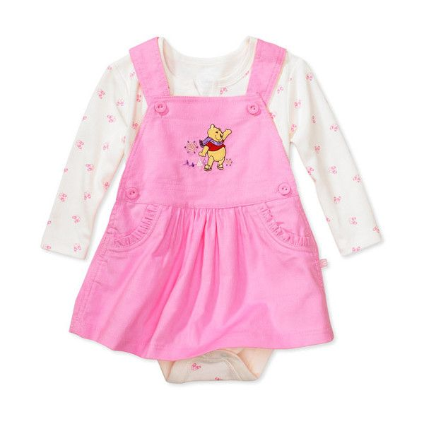 0d757da54 Disney - Newborn Girls' Winnie the Pooh Jumper and Bodysuit ❤ liked on  Polyvore featuring baby and baby clothes