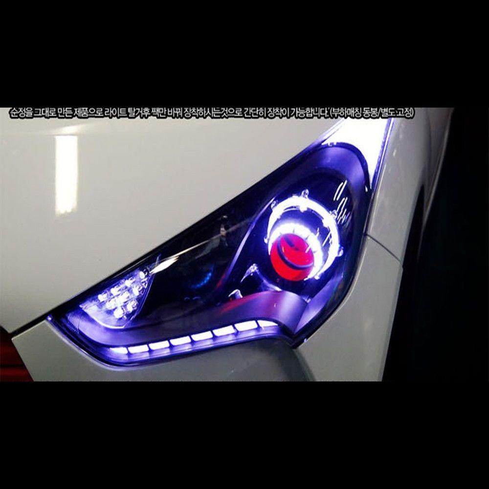 Led head lights lamp module diy kit for hyundai veloster - Hyundai veloster interior accessories ...