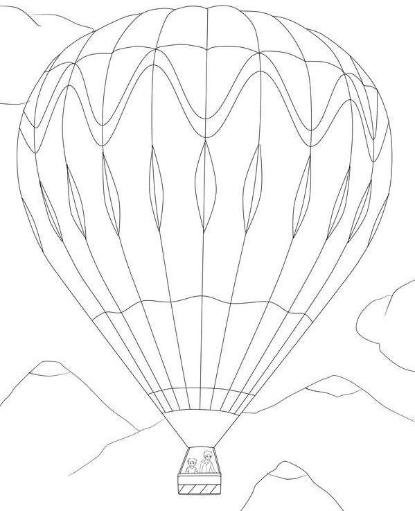 ausmalbild heißluftballon  ausmalen ausmalbilder
