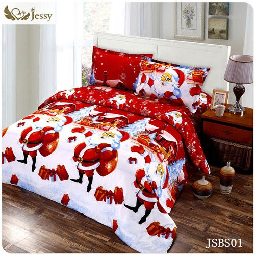3D Bedding Sets Merry Christmas Santa Claus and Gift 4pc Duvet Cover