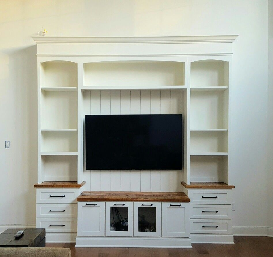 Reclaimed Media Cabinet Painted White Maple Media Cabinet With Reclaimed Yellow Pine Wood