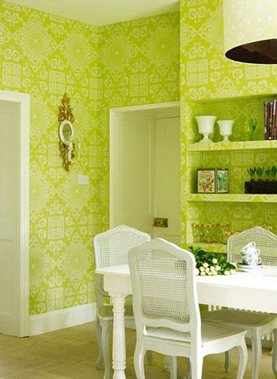 Not For The Whole Wall But Definitely Want This Color Green In My Room