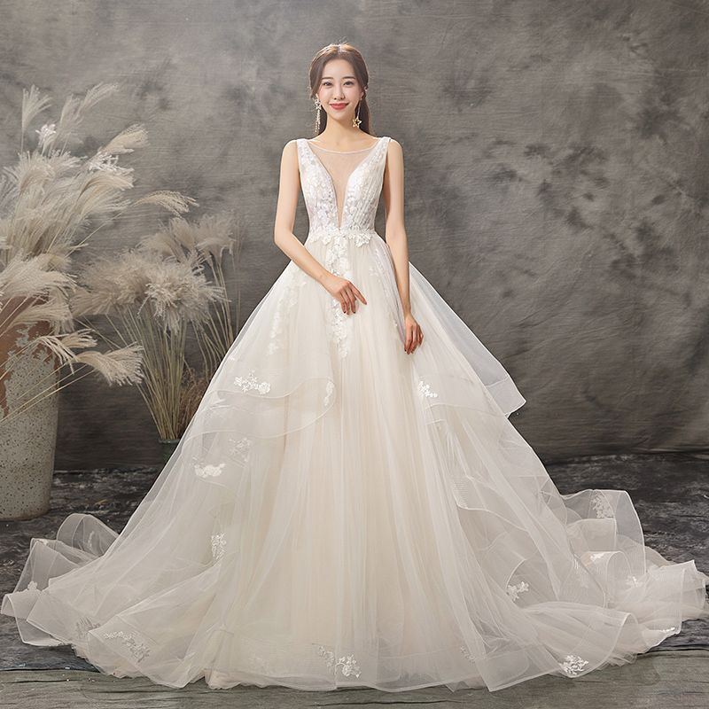 25++ Wedding dress neckline applique info