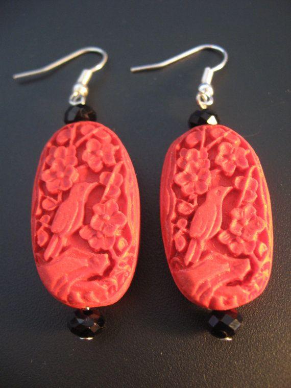 Cinnabar Jewelry Earrings By Jewelryrow 18 50