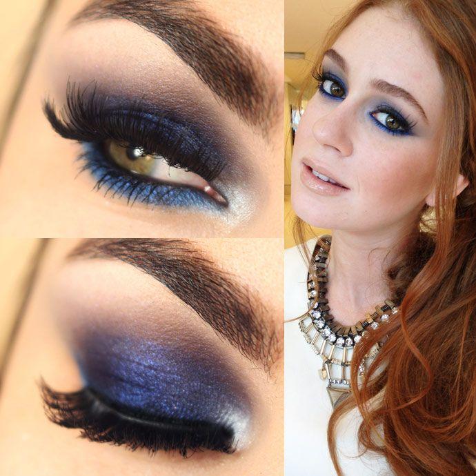 Tutorial – maquiagem azul da Marina Ruy Barbosa | Maquiagem para vestido  azul, Maquiagem azul, Maquiagem escura